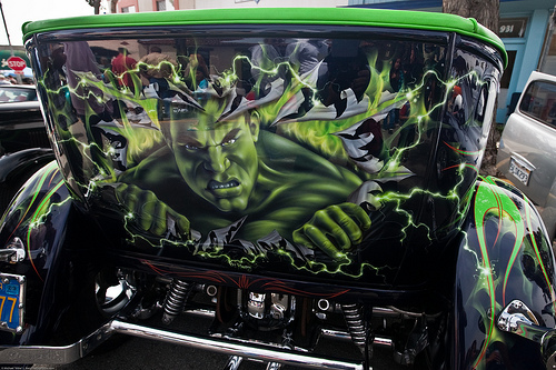 photo of custom car paint job