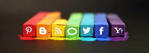 social media crayons photo