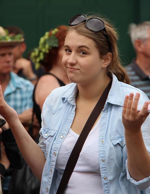 image of woman shrugging