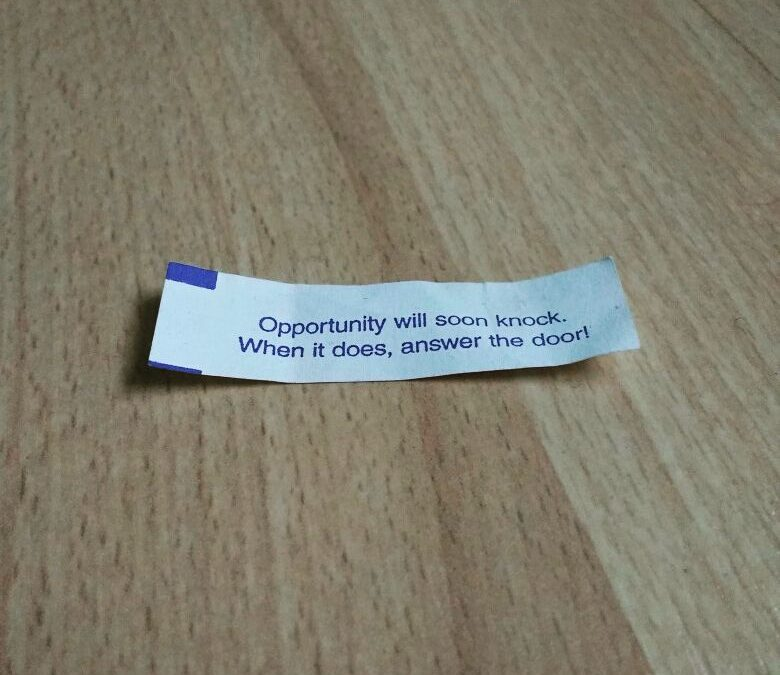 Photo of a fortune cookie fortune.