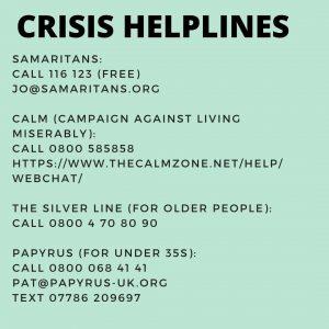 Crisis helplines