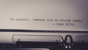 Typed Oscar Wilde quote