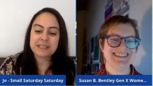 Small Business Saturday Live on Facebook with Susan Bentley Gen X Women's Coach